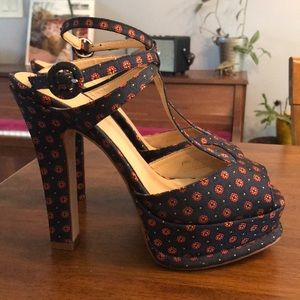 Zara Basic floral heels